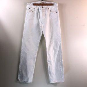 Levi's white 501 jeans 30x30